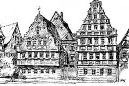 Kanzlei Nördlingen, Zeichnung Hotel